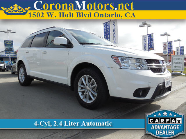 2013 Dodge Journey SXT White 4-Wheel Disc Brakes AC AT ABS Adjustable Steering Wheel Alumi