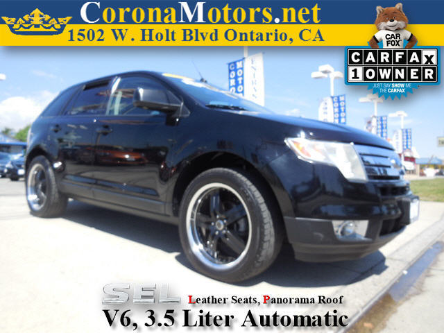 2007 Ford Edge SEL PLUS Black Clearcoat 4-Wheel Disc Brakes 6-Speed AT AC AT ABS Adjustab