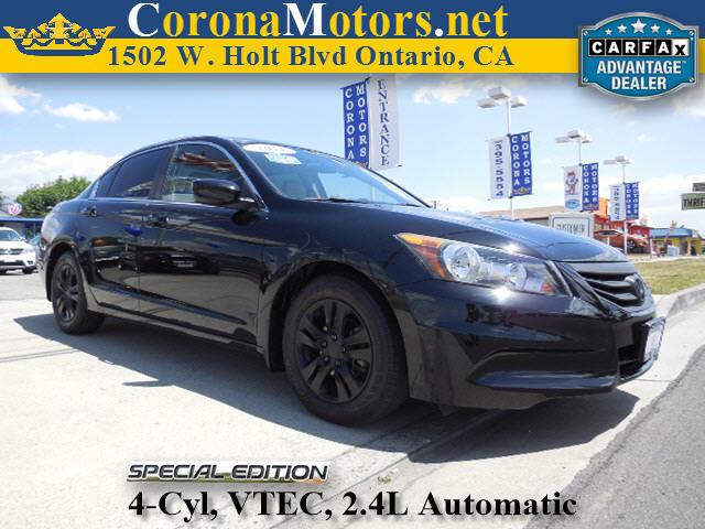 2011 Honda Accord SE Crystal Black Pearl 4 Cylinder Engine 4-Wheel Disc Brakes 5-Speed AT AC