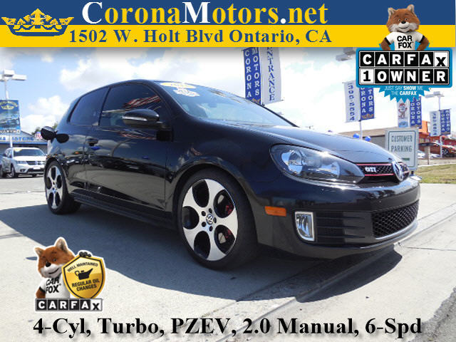 2011 Volkswagen GTI PZEV Black 4 Cylinder Engine 4-Wheel Disc Brakes 6-Speed MT AC ABS Adj