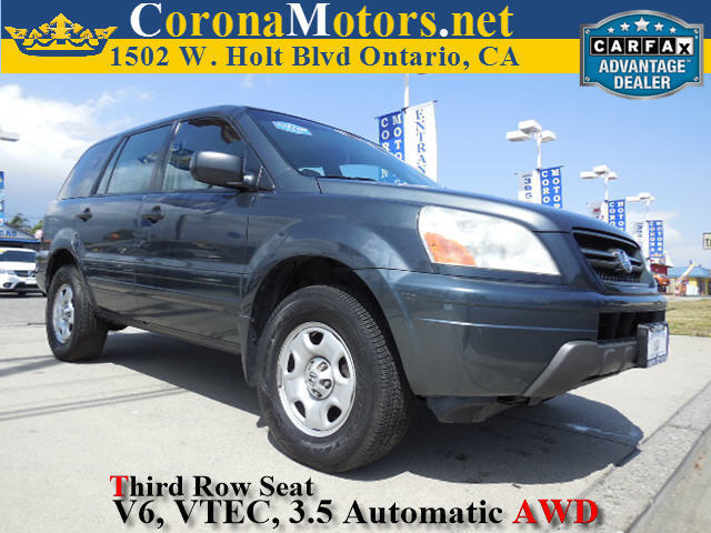 2004 Honda Pilot LX AWD Gray 3rd Row Seat 4-Wheel Disc Brakes 5-Speed AT AC AT ABS Adjus