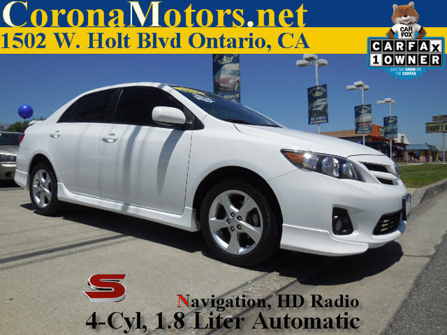 2012 Toyota Corolla S White 4 Cylinder Engine AC ABS Adjustable Steering Wheel AMFM Stereo