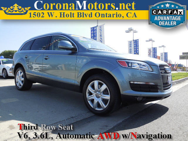 2008 Audi Q7 36L Premium Gray 3rd Row Seat 4-Wheel Disc Brakes 6-Speed AT AC AT ABS Adj
