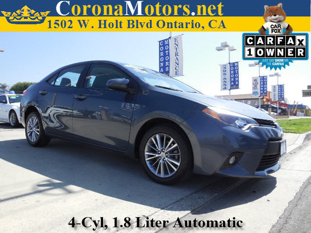 2014 Toyota Corolla LE Slate Metallic 4 Cylinder Engine AC AT ABS Adjustable Steering Wheel