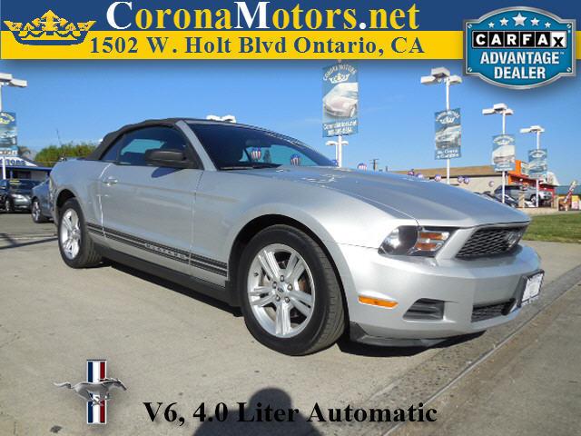 2010 Ford Mustang V6 Brilliant Silver Metallic 4-Wheel Disc Brakes AC ABS Adjustable Steering