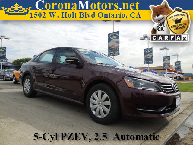 2013 Volkswagen Passat S Burgundy 4-Wheel Disc Brakes 5 Cylinder Engine 6-Speed AT AC AT