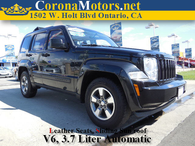 2008 Jeep Liberty Sport Black 4-Wheel Disc Brakes AC ABS Adjustable Steering Wheel Aluminum