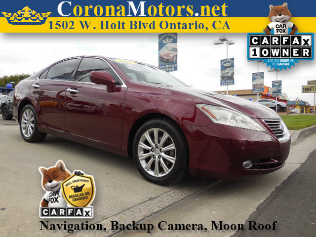 2007 Lexus ES 350 Burgundy 4-Wheel Disc Brakes 6-Speed AT AC AT ABS Adjustable Steering W