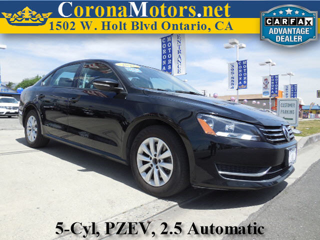 2012 Volkswagen Passat S wAppearance Black 4-Wheel Disc Brakes 5 Cylinder Engine 6-Speed AT