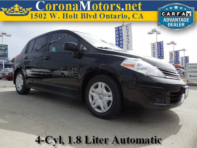 2012 Nissan Versa S Super Black 4 Cylinder Engine 4-Speed AT AC AT ABS Adjustable Steerin
