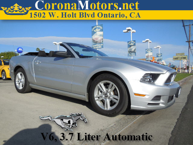 2013 Ford Mustang V6 Silver 4-Wheel Disc Brakes AC ABS Adjustable Steering Wheel Aluminum Wh