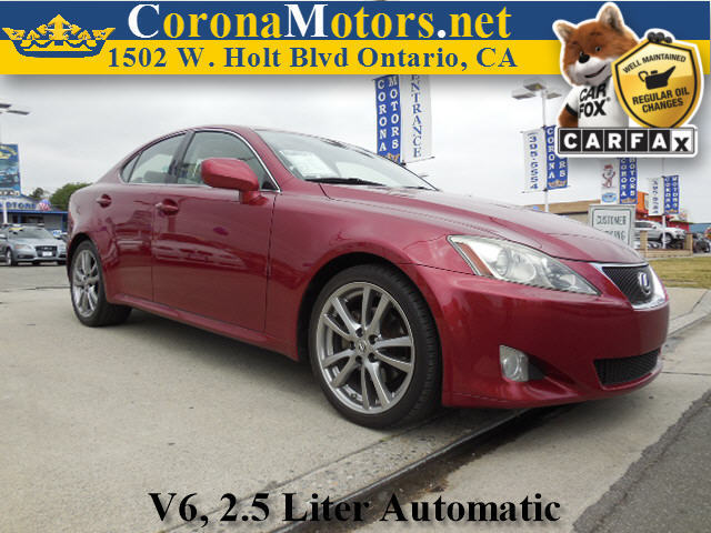 2008 Lexus IS 250 Burgundy 4-Wheel Disc Brakes 6-Speed AT AC AT ABS Adjustable Steering W