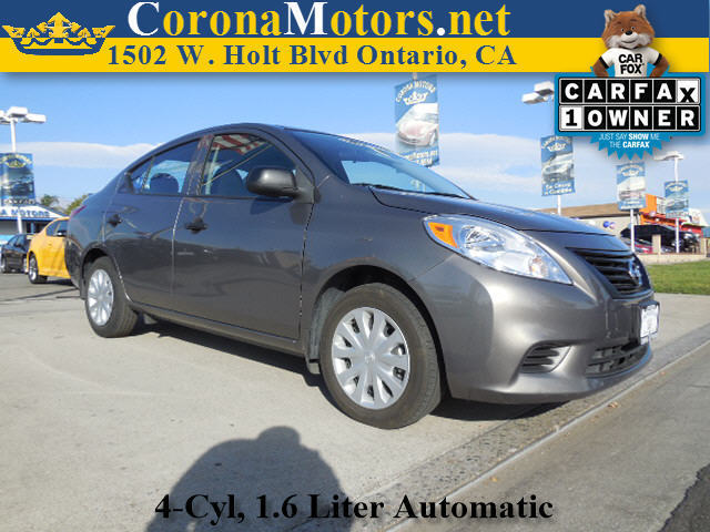 2014 Nissan Versa S Plus Charcoal 4 Cylinder Engine AC AT ABS Adjustable Steering Wheel AM