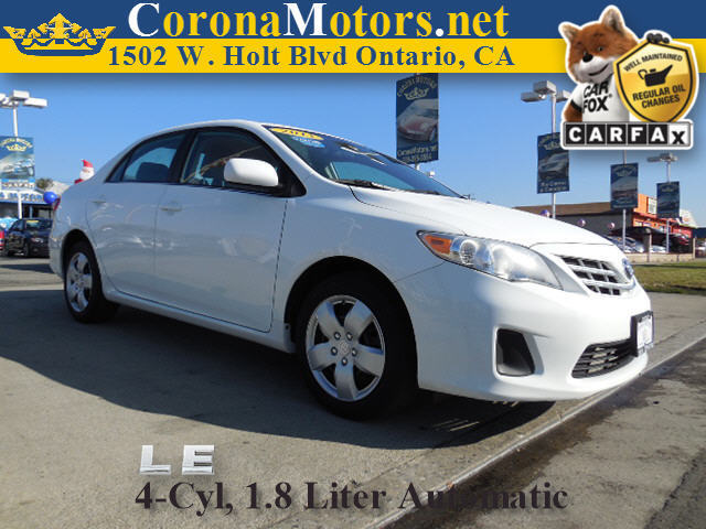 2013 Toyota Corolla LE White 4 Cylinder Engine AC ABS Adjustable Steering Wheel AMFM Stereo