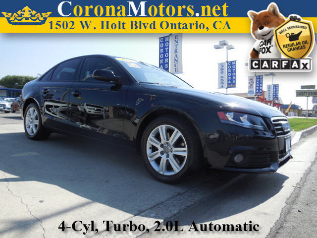 2011 Audi A-4 20T Premium Brilliant Black 4 Cylinder Engine 4-Wheel Disc Brakes AC AT ABS
