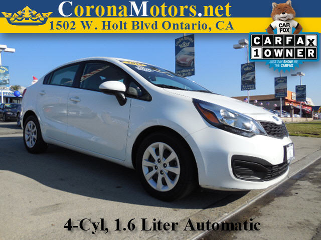 2013 Kia Rio LX White 4 Cylinder Engine 4-Wheel Disc Brakes 6-Speed AT AC AT ABS Adjusta