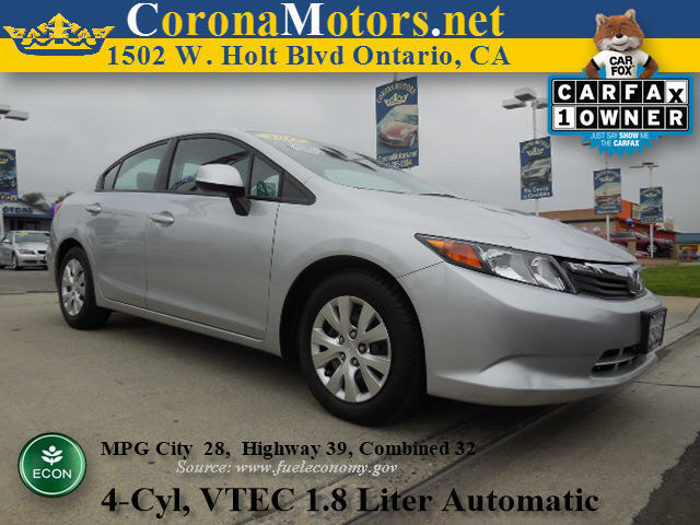 2012 Honda Civic LX Silver 4 Cylinder Engine 5-Speed AT AC AT ABS Adjustable Steering Whe