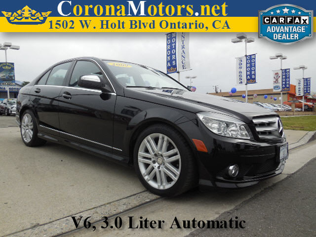 2009 Mercedes C-Class 30L Luxury Black 4-Wheel Disc Brakes 7-Speed AT AC AT ABS Adjustab