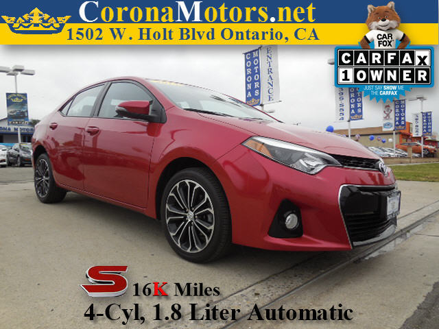 2014 Toyota Corolla S Burgundy 4 Cylinder Engine 4-Wheel Disc Brakes AC AT ABS Adjustable