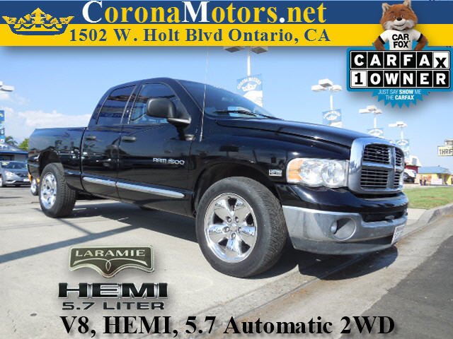 2004 Dodge Ram 1500 Laramie Black 4-Wheel Disc Brakes 8 Cylinder Engine AC ABS Adjustable St