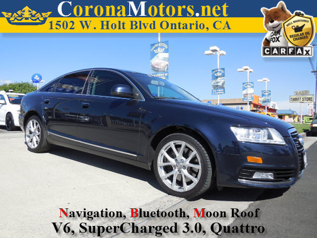 2009 Audi A6 Premium Plus Dark blue 4-Wheel Disc Brakes 6-Speed AT AC AT ABS Adjustable S