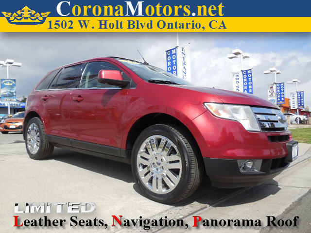 2008 Ford Edge Limited Burgundy 4-Wheel Disc Brakes 6-Speed AT AC AT ABS Adjustable Steer