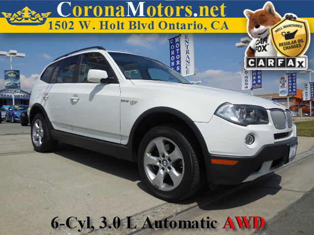 2007 BMW X3 30si White 4-Wheel Disc Brakes AC ABS Adjustable Steering Wheel All Wheel Drive