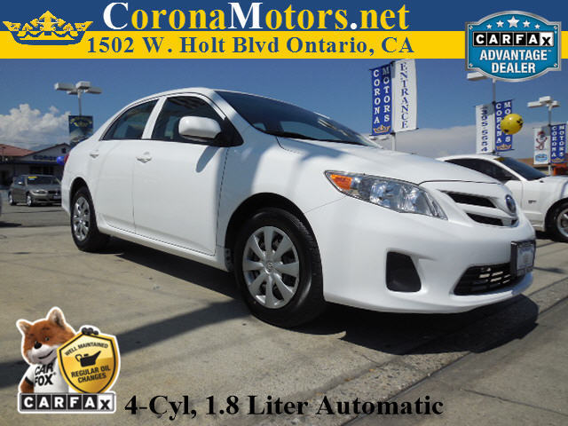 2013 Toyota Corolla L Super White 4 Cylinder Engine 4-Speed AT AC AT ABS Adjustable Steer
