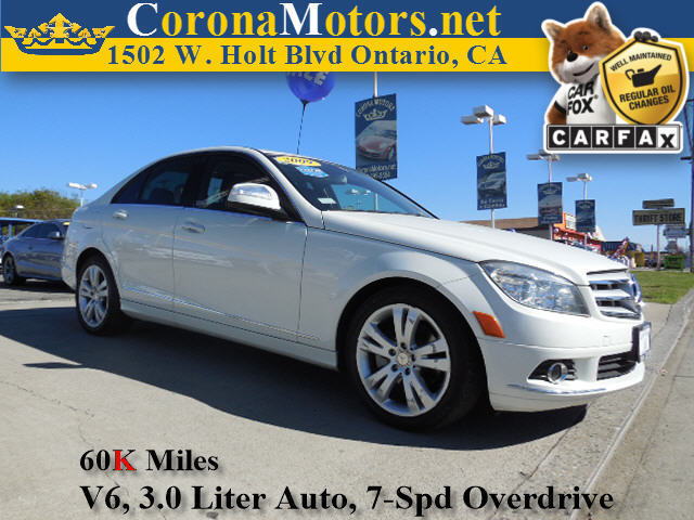 2009 Mercedes C-Class 30L Sport Arctic White 4-Wheel Disc Brakes AC ABS Adjustable Steering