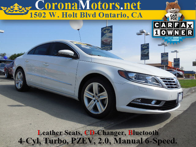 2013 Volkswagen CC Sport White 4 Cylinder Engine 4-Wheel Disc Brakes 6-Speed MT AC ABS Adj