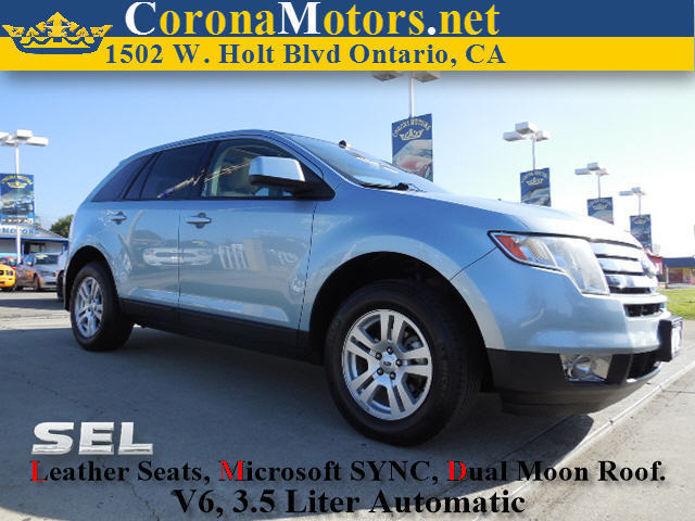 2008 Ford Edge SEL Blue 4-Wheel Disc Brakes 6-Speed AT AC AT ABS Adjustable Steering Whee