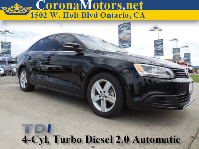 2013 Volkswagen Jetta Sedan TDI Black 4 Cylinder Engine 4-Wheel Disc Brakes 6-Speed AT AC A