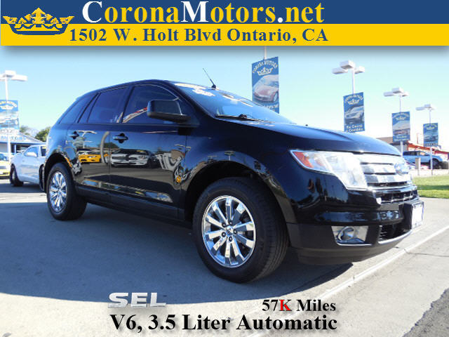 2008 Ford Edge SEL Black 4-Wheel Disc Brakes 6-Speed AT AC AT ABS Adjustable Steering Whe