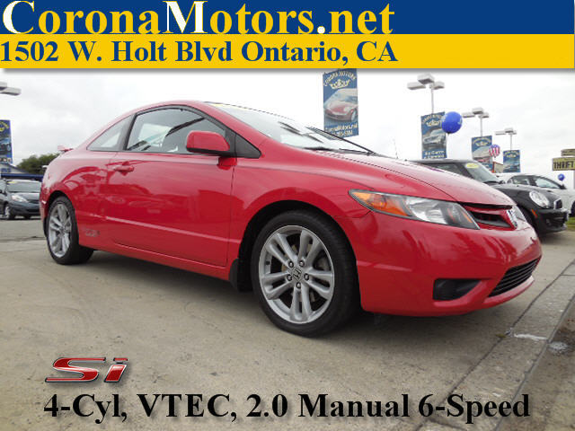 2007 Honda Civic Si Red 4 Cylinder Engine 4-Wheel Disc Brakes 6-Speed MT AC ABS Adjustable