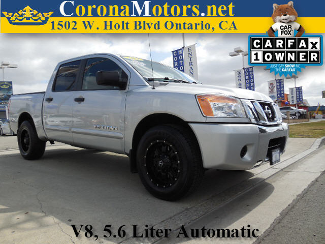 2012 Nissan Titan SV Brilliant Silver 4-Wheel Disc Brakes 5-Speed AT 8 Cylinder Engine AC A