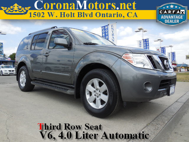 2008 Nissan Pathfinder SE Black 3rd Row Seat 4-Wheel Disc Brakes 5-Speed AT AC AT ABS Ad