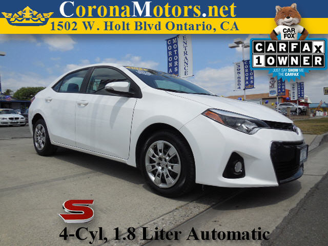 2014 Toyota Corolla S Super White 4 Cylinder Engine 4-Wheel Disc Brakes AC AT ABS Adjustab