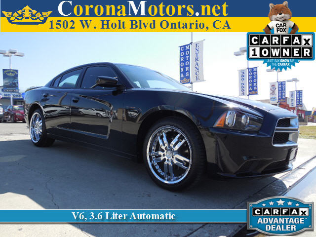 2012 Dodge Charger SE Pitch Black 4-Wheel Disc Brakes AC AT ABS Adjustable Steering Wheel