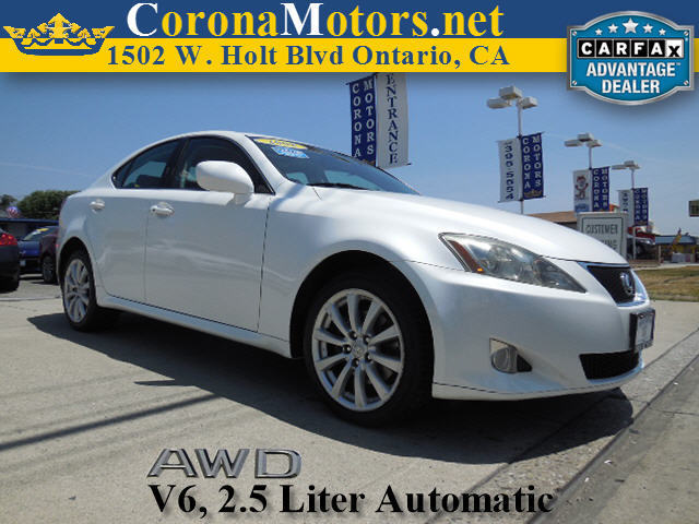 2008 Lexus IS 250 Starfire Pearl 4-Wheel Disc Brakes 6-Speed AT AC AT ABS Adjustable Stee
