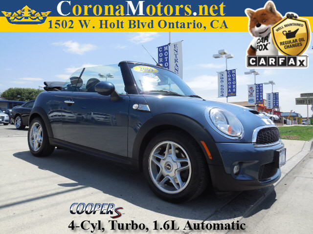 2009 Mini Cooper Convertible S Laser Blue Metallic 4 Cylinder Engine 4-Wheel Disc Brakes AC A