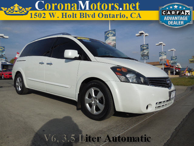 2008 Nissan Quest S White 4-Wheel Disc Brakes 5-Speed AT AC AT ABS Adjustable Steering Wh