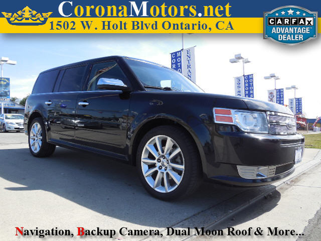 2011 Ford Flex Limited Black 3rd Row Seat 4-Wheel Disc Brakes 6-Speed AT AC AT ABS Adjus
