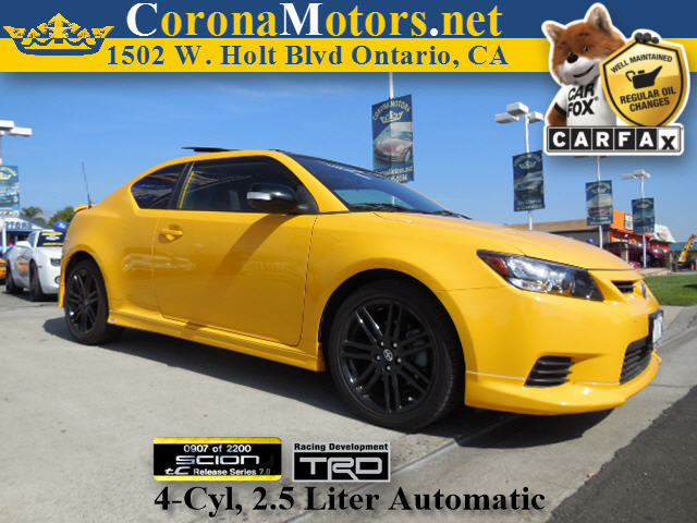 2012 Scion tC Release  Series 70 Yellow 4 Cylinder Engine 4-Wheel Disc Brakes AC ABS Adjust