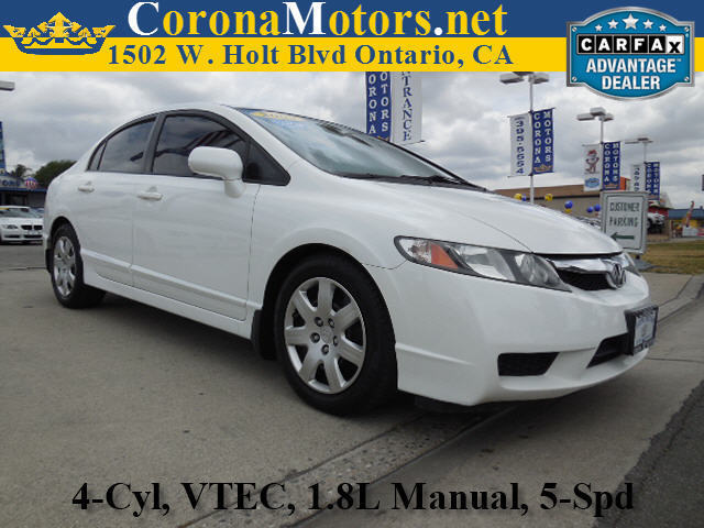 2009 Honda Civic LX Taffeta White 4 Cylinder Engine 5-Speed MT AC ABS Adjustable Steering W