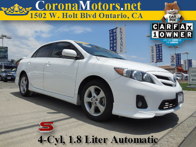 2013 Toyota Corolla S Special Edition White 4 Cylinder Engine 4-Speed AT AC AT ABS Adjust